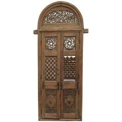 Hudge Indo-Portuguese Door, Teakwood, Very Interesting Sculpture, India