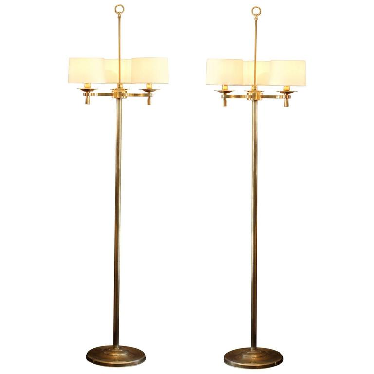 Prince de Galles, Paris, circa 1940 Art Deco Floor Lamps For Sale