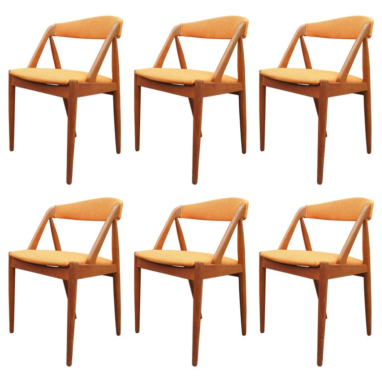 Set of Six Teak Dining Chairs, Model 31, by Kai Kristiansen for Schou Andersen