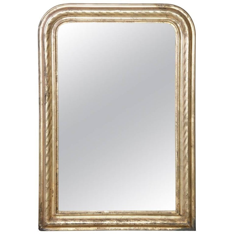 Louis Philippe Victorian Silver Gilt Mirror