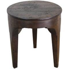 Antique Three-Legged Pine Table