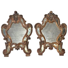 Pair of Petite 19th Century French Decorative Mirrors