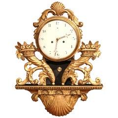 Französische vergoldete Louis-XV-Uhr aus dem 18. Jahrhundert mit Obstkorb und Schale
