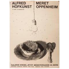 Vintage Meret Oppenheim and Alfred Hofkunst Poster