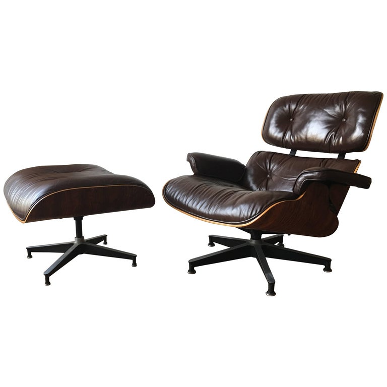 Superb vintage herman miller eames lounge and ottoman at 1stdibs - Vintage herman miller ...