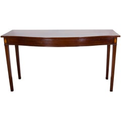 George III Period Mahogany Bow-Front Serving Table
