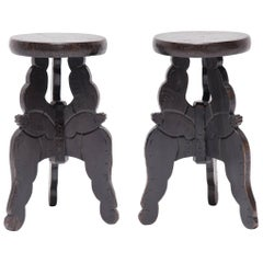 Pair of Chinese Petite Butterfly Tables