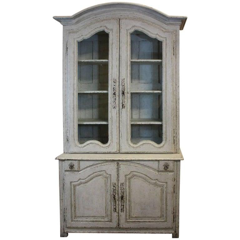 19th Century Painted Buffet A'deaux Corps/Bibliothèqu/Bookcase/Linen Press