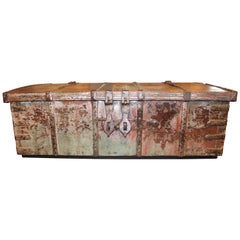 Antique British Colonial Trunk as Coffee Table