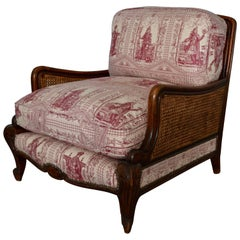 Wood and Wicker French Armchair, 1900