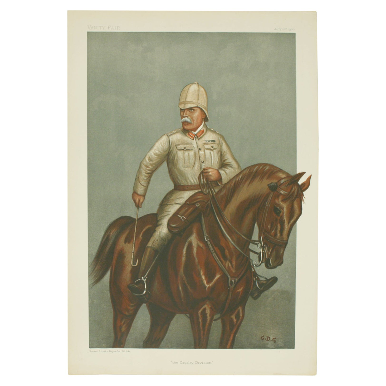 Vanity Fair, Military Print, the Cavalry Division