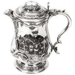 English Silver Plate Lidded Ewer Lipped Tankard Martin Hall & Co, circa 1860