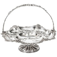 Antique Victorian Silver Plated Fruit Basket John Figg, London, circa 1860