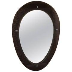 Elegant Mirror with Crystal, 1969 Design Italian Fontana Arte Attributed