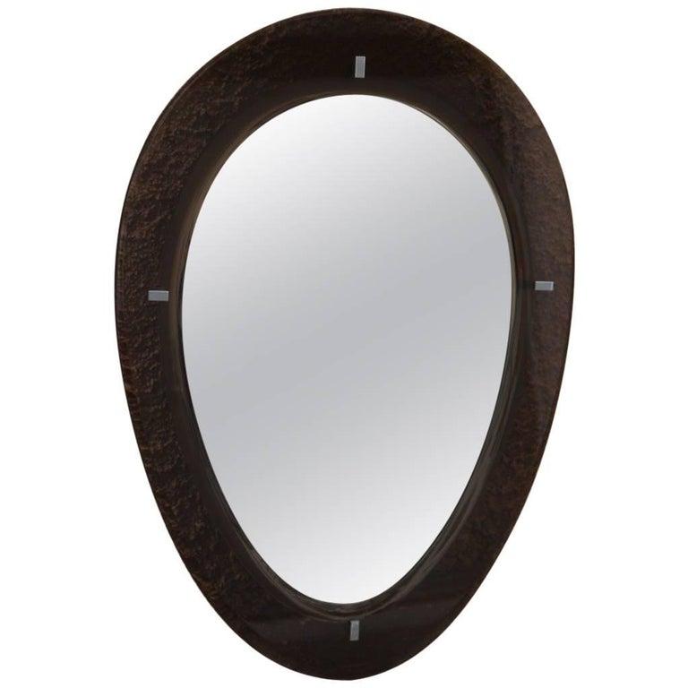 Mirror with Crystal, 1969 Design Italian Fontana Arte