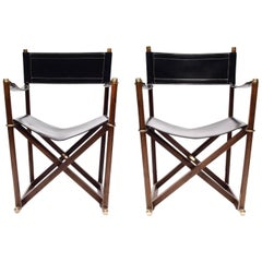 Important Pair of Mogens Koch MK-16 Folding Campaign Chairs