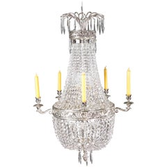 Classicist Basket Chandelier in Empire Style