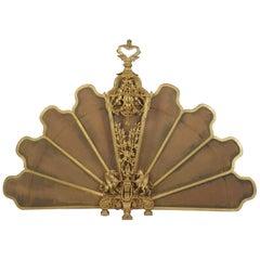 Gilt-Bronze Fan Shaped Firescreen, French, circa 1880