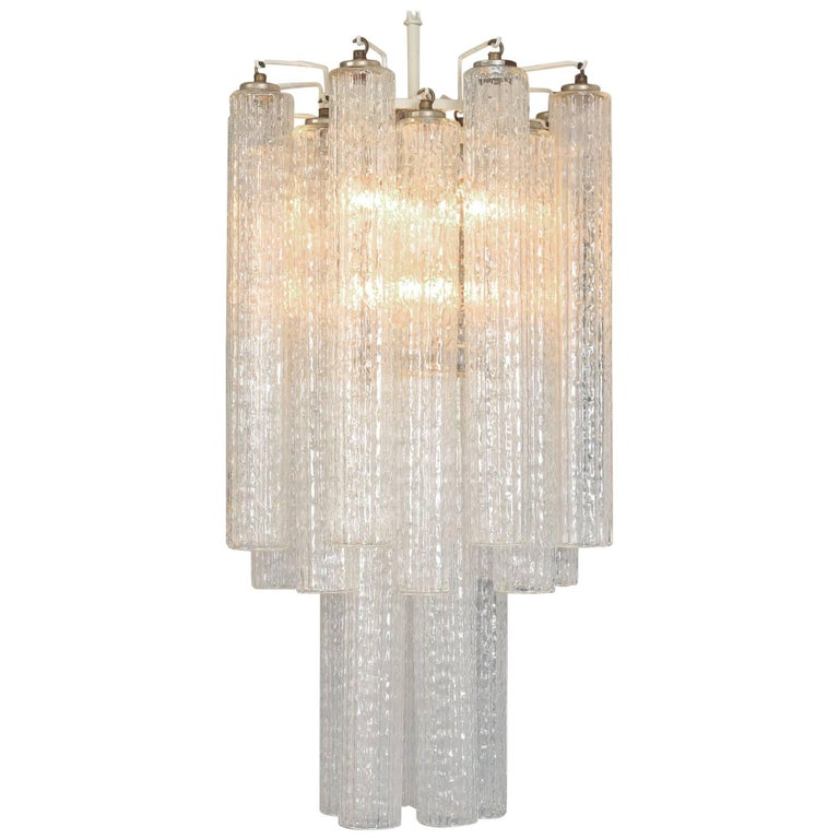 1950s Italian Glass Chandelier By Venini For Sale At 1stdibs
