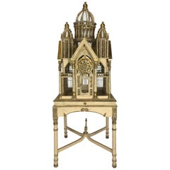 Superb Tall  Vintage Victorian Style Cathedral Bird Cage