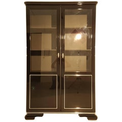Art Deco Display Cabinet in High Gloss Black