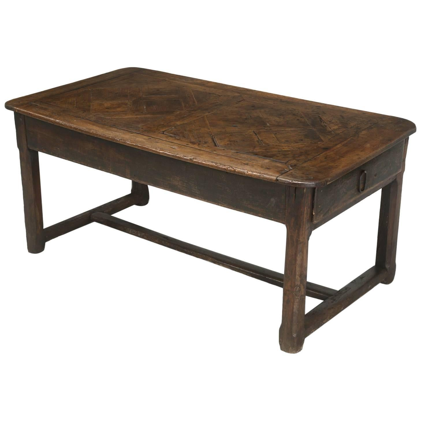Antique French Farm Table With Drawer, Circa 1700 1