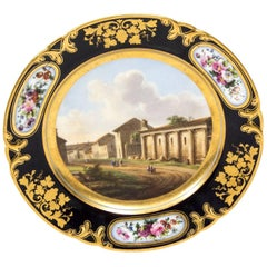 19th Century Porcelain Plate Pucher Deroche, Paris
