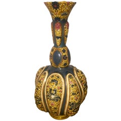Late 19th Century Persian Style Zsolnay Vase with Reticulated Floral Motifs