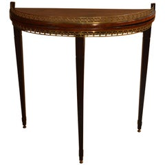 Antique Mahogany Fold over Console Table