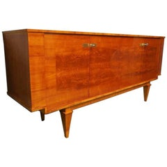1920s Square Cherrywood French Art Deco Sideboard