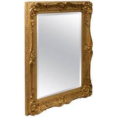 Antique Gilt Wall Mirror Ornate English Victorian Quality Bevel, circa 1870