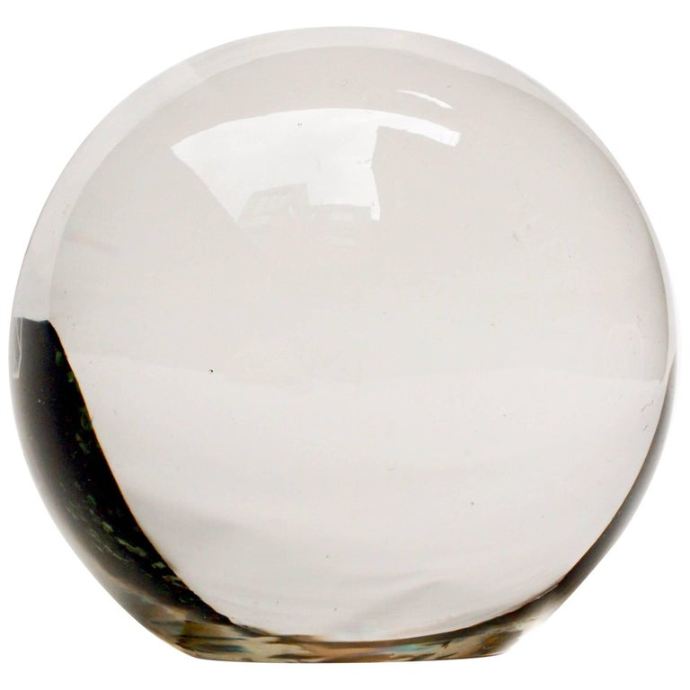Fine Crystal Ball Paperweight