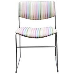 1970s Minimalist Chrome Side Chair