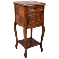 Antique French Pot Cupboard Night Stand Bedside Side Cabinet Mahogany circa 1900