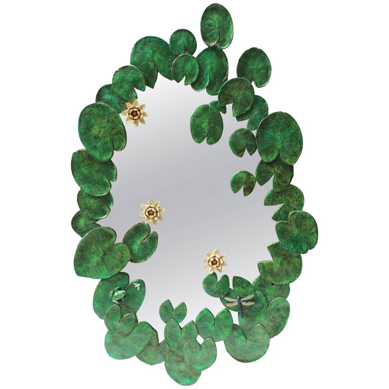 Water Lily Pad Mirror