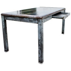1940s Industrial Tanker Table by Art Metal, Refinished