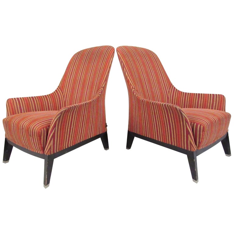 Pair of Italian Modern Lounge Chairs by Massimo Scolari for Giorgetti
