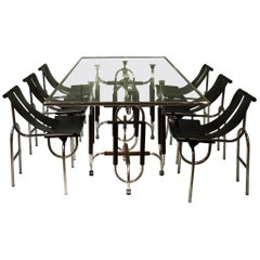 "Roberto Gabetti and Amaro Isola Dining Table, Chairs ""TRI 15"""