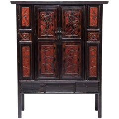 Chinese Painted Two-Door Cabinet