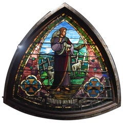 Monumental Stained Glass Pictoral Window, circa 1880