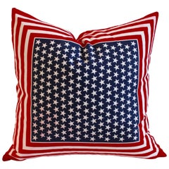 American Bandana Patriotic Flag Pillow