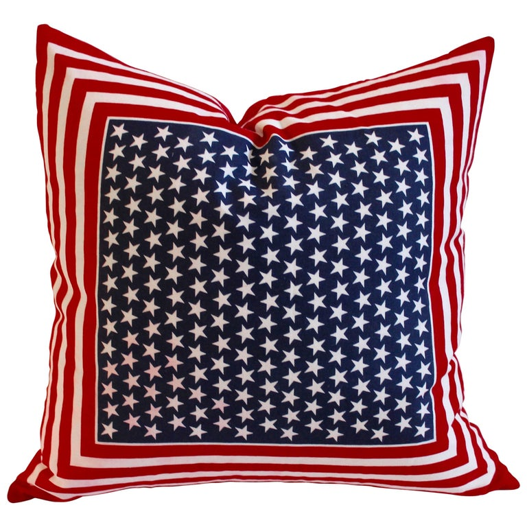 American Bandana Patriotic Flag Pillow 1