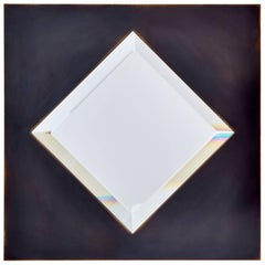 Dakhla No. 2 Copper Diamond Shaped Beveled Mirror by Bark Frameworks