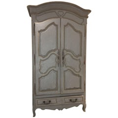 Antique French Louis XV Armoire, 18th Century