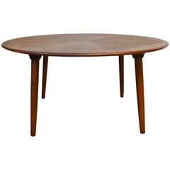 Round Rosewood Coffee Table by Henry W. Klein for Bramin, Denmark, 1960s