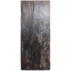 Contemporary Form Ebonized Rainbow Wood Pedestal