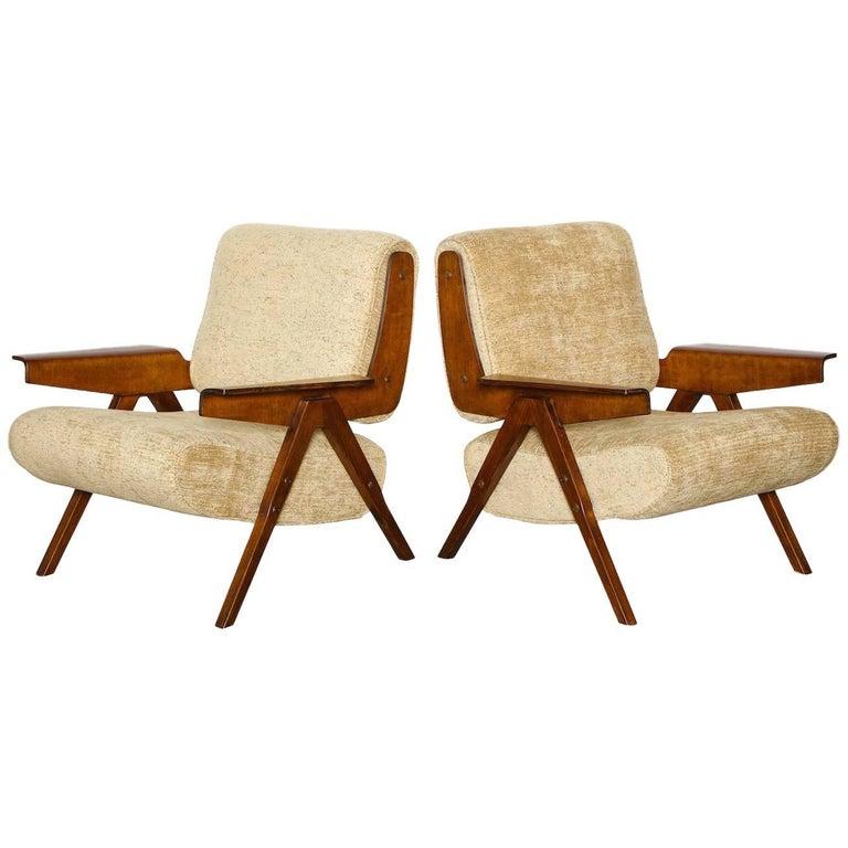Gianfranco Frattini Lounge Chairs