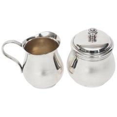 Christofle Albi Sugar Bowl and Creamer Silver Plated