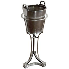Silver Plate Ice Champagne Wine Bucket/cooler in Stand