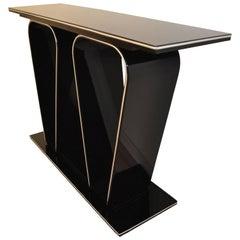 Black Art Deco Design Console Table